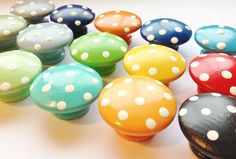 Dresser Knobs  Hand Painted with Polka Dots by TheLittleNursery, $4.00
