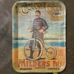 Awesome #PennyFarthing #vintage serving plate via @Salvagetti