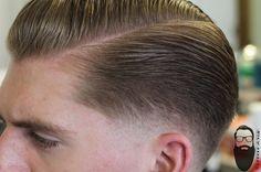 Therealbarberjustin: U201c Low Bald And Slicked Back. #barber #barbers  #baldfade #