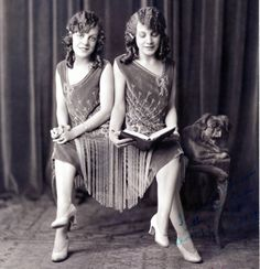Daisy and Violet Hilton (1908-1969), conjoined twins.  The pretty and talented twins worked in the sideshow and vaudeville (with Bob Hope).  They also appeared in the movies 'Freaks' and 'Chained for Life'.  They had a few short-lived publicity marriages.  They couldn't get work in the 60s and ended up abandoned by their manager and penniless.  They worked at a supermarket the last eight years of their lives.  After not reporting for work, it was  discovered they had died of influenza.