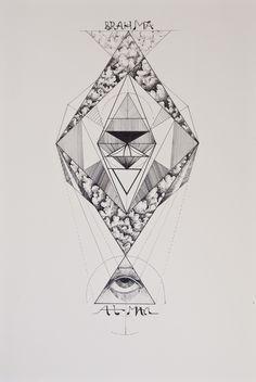 Advaita, serie La Iluminación del hombre nadie. Manuel Mirage, via Behance