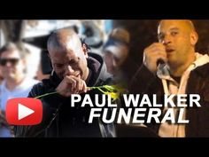 Paul Walker Funeral - Tyrese Gibson Cries And Vin Diesel Address Fans