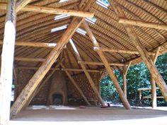 Roundwood Timber Framing: Sustainable Home Building Design Home Building Design, Building A House, House Design, Workshop Shed, Round House, Pergola, Gazebo, Architecture, House Styles