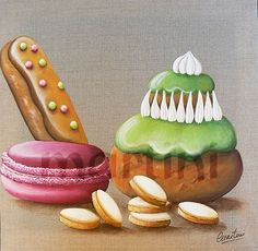 tableau gourmandises, tableau macaron,