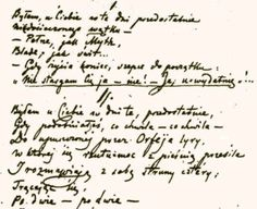 """Manuscript of """"Chopin's Piano,"""" an elegiac poem by Cyprian Norwid, the young Polish poet who met the composer in Paris in 1849.  """"I visited you in those final days, when you were becoming more and more, from one heartbeat to the next, like the lost lyre of Orpheus…"""""""