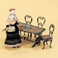 Antique Dolls and Toys of LEGO - Session 1: 168 German Soft Metal Furniture and Dollhouse Lady
