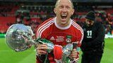 Andy Morrell with the FA Trophy France Euro, Northern Ireland, Croatia, Belgium, Ticket, Football, Sports, Soccer, Hs Sports