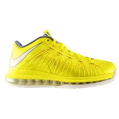 Nike Air Max Lebron X Low - Men's - Sonic Yellow/Cool Grey/Sail