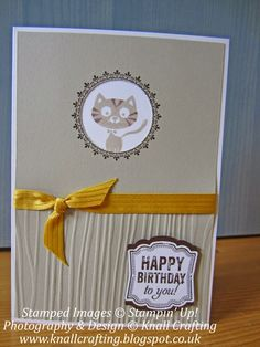 Knall Crafting! You Little Furball cards - Stampin' Up! Monthly classes available.