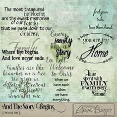 And The Story Begins Word Art