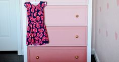 Easy DIY project: Transform an old chest-of-drawers into this ombre beauty Old Chest, English Cottage Style, Swinging Chair, Easy Diy Projects, Chest Of Drawers, Outdoor Dining, Filing Cabinet, Your Design, Beauty