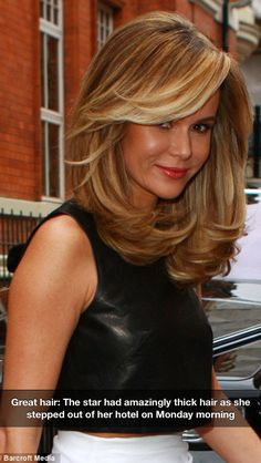 Amanda Holden amazing hair !! Do you want hair like this? Check out My Hair Trip.