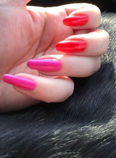 FUNKY AND FIFTY: My natural nails with red Faby Sweet tunes LC M020  and pink Faby Dedicated to Brigitte LC M019. #faby