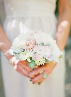 Small-ish sweet bouquet for #bridesmaids    On SMP - http://www.stylemepretty.com/2014/01/09/bohemian-inspired-california-wedding-at-holly-farm/ Lexia Frank Photography