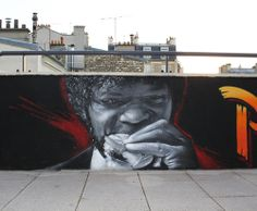 Global Street Art - Pulp Fiction - by Parisian Crew Flow TWE