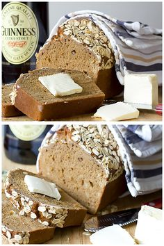 Dark Molasses Irish Beer Bread - deliciously simple thanks to one bowl mixing and no rise time!