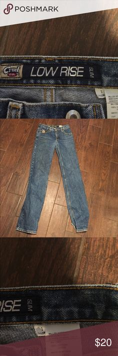 Cruel girl jeans - like new Slim cut extra long cruel girl jeans. Worn twice. Cruel Girl Jeans Straight Leg
