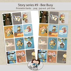 SoMa Design: Bee Busy - Cards - Story Series #9 Printable Cards, Bee, Scrapbook, Business, Design, Printable Maps, Bees, Scrapbooks, Design Comics