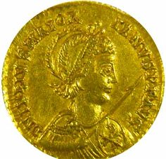 """gold coin of western roman emperor Julius Valerius Maiorianus (457-461 C.E.) """"the last one who tried to change an already scripted fate"""""""