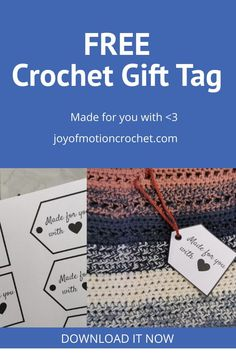 Love gifting handmade? These printable gift tags are perfect for those handmade gifts! Download this gift tag freebie. Instant download & printable gift tag for crochet gifts. Crochet Stitches For Beginners, Crochet Tutorials, Easy Crochet Patterns, Crochet Gifts, Free Crochet, Craft Stash, Gift Tags Printable, Learn To Crochet, Love Gifts
