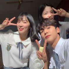 Ulzzang Korea, Ulzzang Girl, Korean Drama Movies, Korean Actors, Couple Aesthetic, Im Single, Drama Korea, Meme Template, Tumblr Photography
