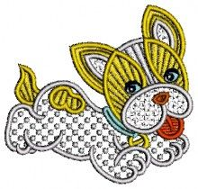 Cute Puppy Lace Design free dog free embroidery designs downloads