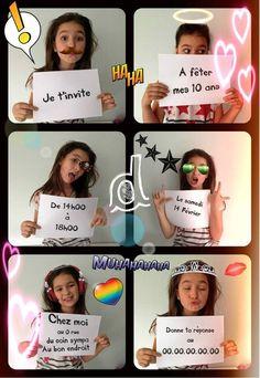 """Résultat de recherche d'images pour """"idée invitation anniversaire 11 ans fille"""""""