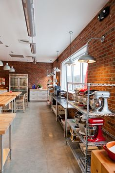 Commercial Teaching Kitchen Design || Dough Market, Asheville NC, Form & Function Architecture @Craig Lopez
