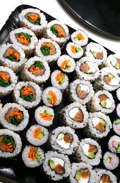 Sushi... The best sushi has the cream cheese in. :)