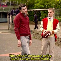 """Stand back kids, this school's insurance policy doesn't cover blown minds. British Memes, British Comedy, Jack Whitehall, Tv Shows Funny, Bad Kids, Tv Quotes, School S, I Love Him, Mindfulness"
