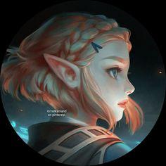 Aesthetic Anime, Mystic, Digital Art, Princess Zelda, Drawings, Cute, Fictional Characters, Random Things, Icons