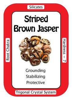 "Crystal Card of the Day: Striped Brown Jasper, ""I steadily work through all challenges in my path."" A comforting stone, Striped Brown Jasper can help with issues involving the aura and chakras. Minerals And Gemstones, Crystals Minerals, Rocks And Minerals, Stones And Crystals, Gem Stones, Chakra Crystals, Healing Crystals, Crystal System, Crystal Meanings"