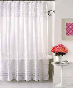 Creative Bath Accessories, Sheer Ruffles Shower Curtain $35