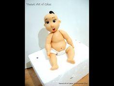 Gum Paste Baby in Diaper - Part I - YouTube