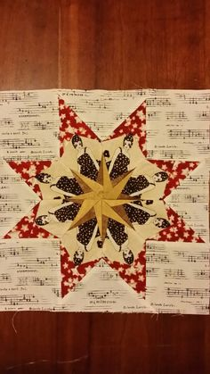 quiltails:My first finished star for my challenge quilt.  Not...