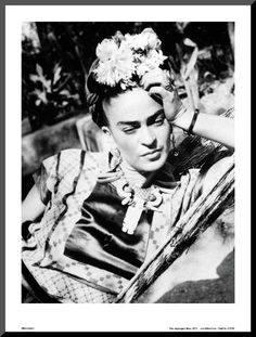 Portrait of Frida Kahlo Mounted Print at AllPosters.com