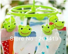 R E  best selling Cute Plastic Clothes frog Hanger 8 Clips drying rack clothes hanger socks CN post $4.52