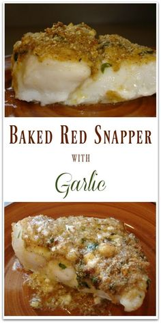 Baked Red Snapper with Garlic: