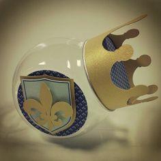 Mini-baleiro tampa com coroa