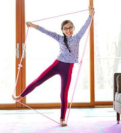 """Stretchy Band Exercises for Kids from """"Family Fun"""" -- cuz they know kids! Indoor Activities, Physical Activities, Physical Education, Activities For Kids, Activity Ideas, Educational Activities, Excersise For Kids, Physical Fitness Program, Summer Reading Program"""
