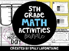 Attached are six fifth grade Mathematics activities aligned with the Common Core.