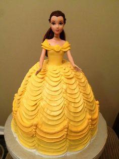 Disney Belle Buttercream Layered Disney Doll Cake