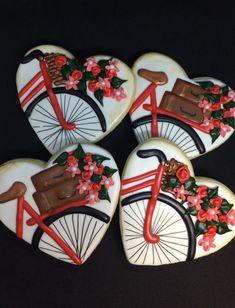 #Sugarcookies #bikecookie #valentinecookie #valentinesDay #MamasCakeClassics