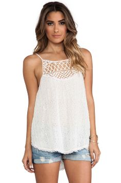 Free People I Got My Eyelet On You Top in Alabaster from REVOLVEclothing $96