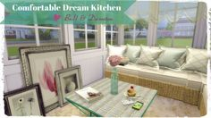 Dinha Gamer: Comfortable Dream Kitchen • Sims 4 Downloads