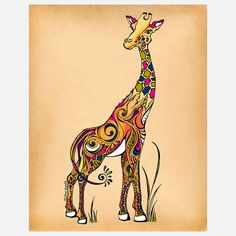 I've been searching for a really cool giraffe tattoo, and I think I found the winner!