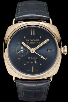 An exclusive Special Edition of great elegance OFFICINE PANERAI Radiomir 8 Days GMT Oro Rosso 45mm (See more at: http://watchmobile7.com/articles/officine-panerai-radiomir-8-days-gmt-oro-rosso-45mm) (2/4) #watches #officinepaneria #panerai @Officine Fotografiche Roma Panerai