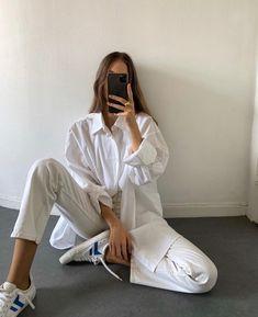 Casual Street Style, Unisex, White Fashion, Classy Fashion, Daily Fashion, Queer Fashion, 70s Fashion, Fashion 2020, Street Fashion