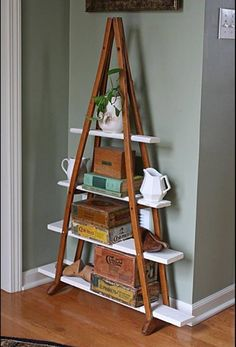 My ortho doc brother needs these. Shelves made from old crutches - so cool!