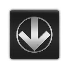 Circled Down Arrow Icon #009499 » Icons Etc